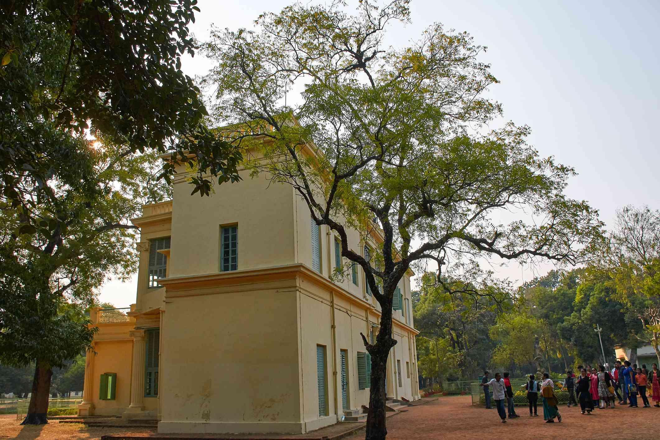 Santiniketan Griha (house), one of the oldest building inside the Visva-Bharati University campus, at Shantiniketan.