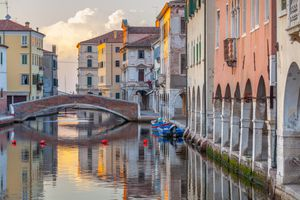 Canal in the old town of Chioggia, Veneto, Italy