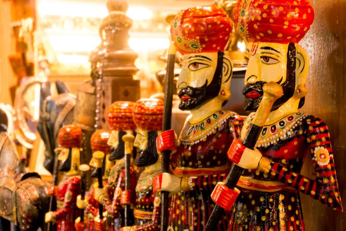 Rajasthani handicrafts (wooden men)