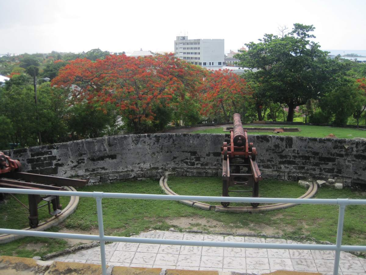 Cannons at Fort Fincastle in Nassau