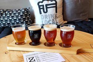 Flight of beer at Zed's