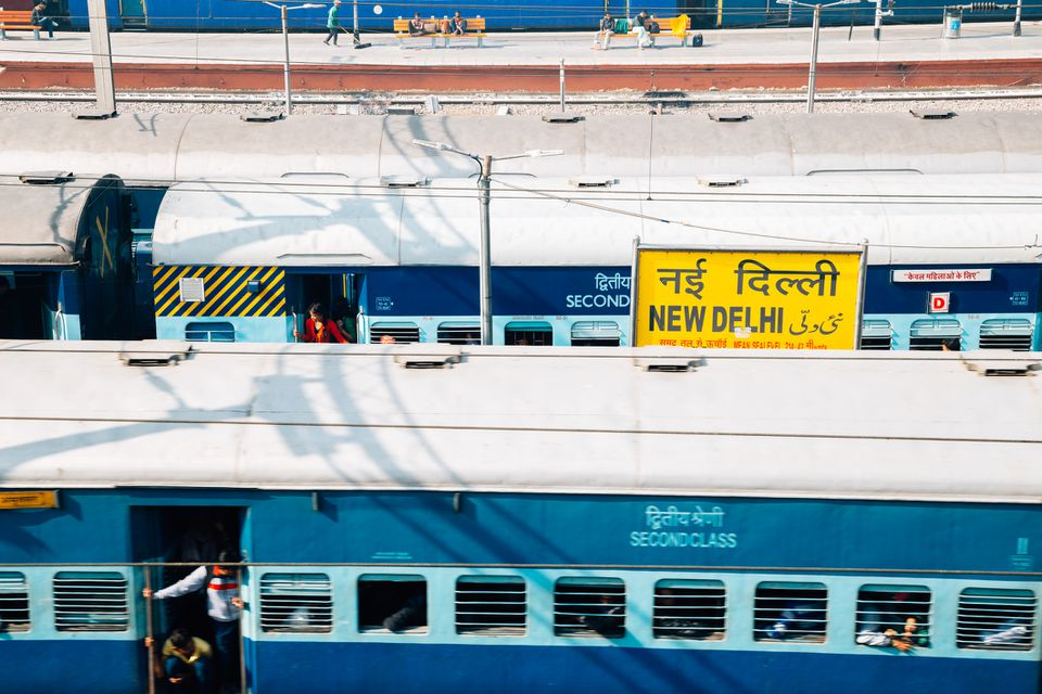 Trains at New Delhi Railway Station