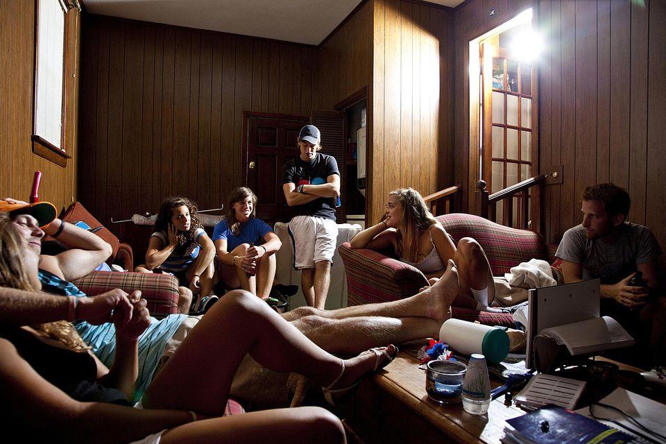 travelers in a hostel