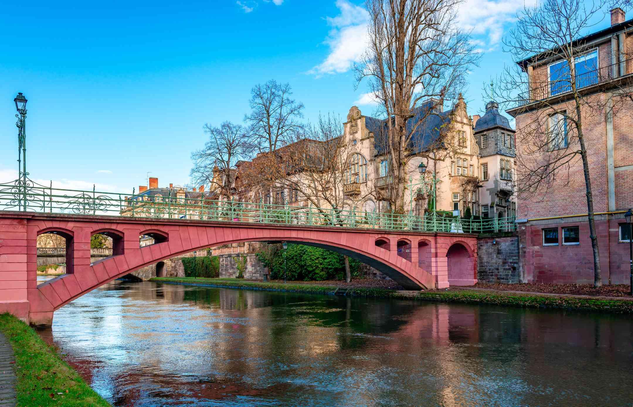 Footbridge in Neustadt, Strasbourg, France