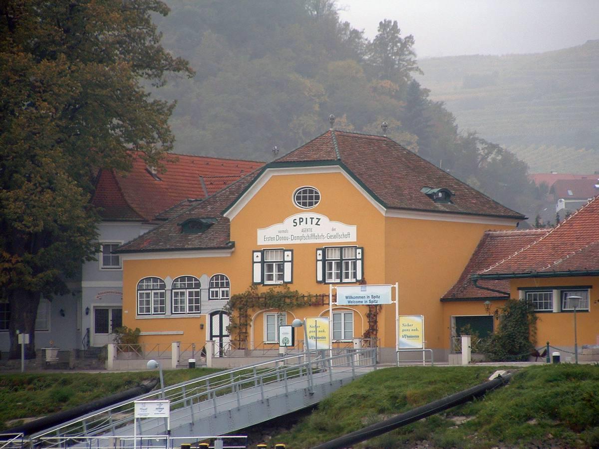 Spitz, Austria in the Wachau Valley along the Danube River