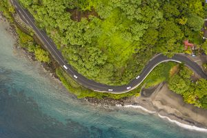 Coastal road in Martinique