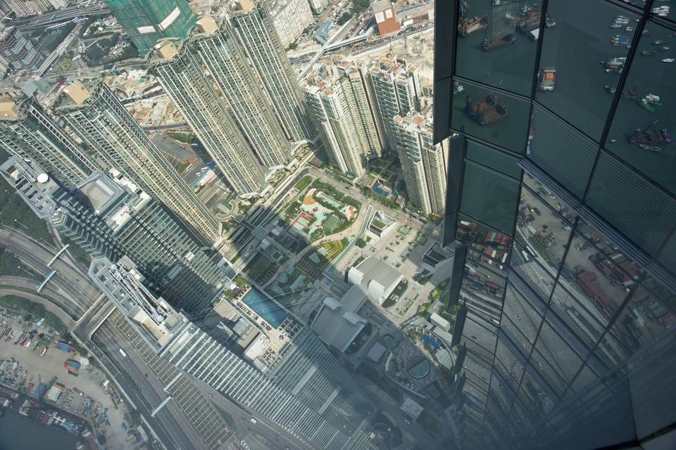 Hong Kong business district