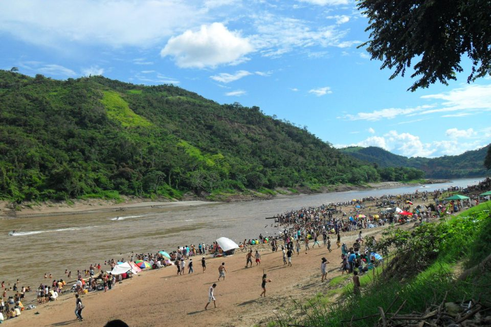 San Juan celebrations by the Huallaga River in Shapaja, near Tarapoto.