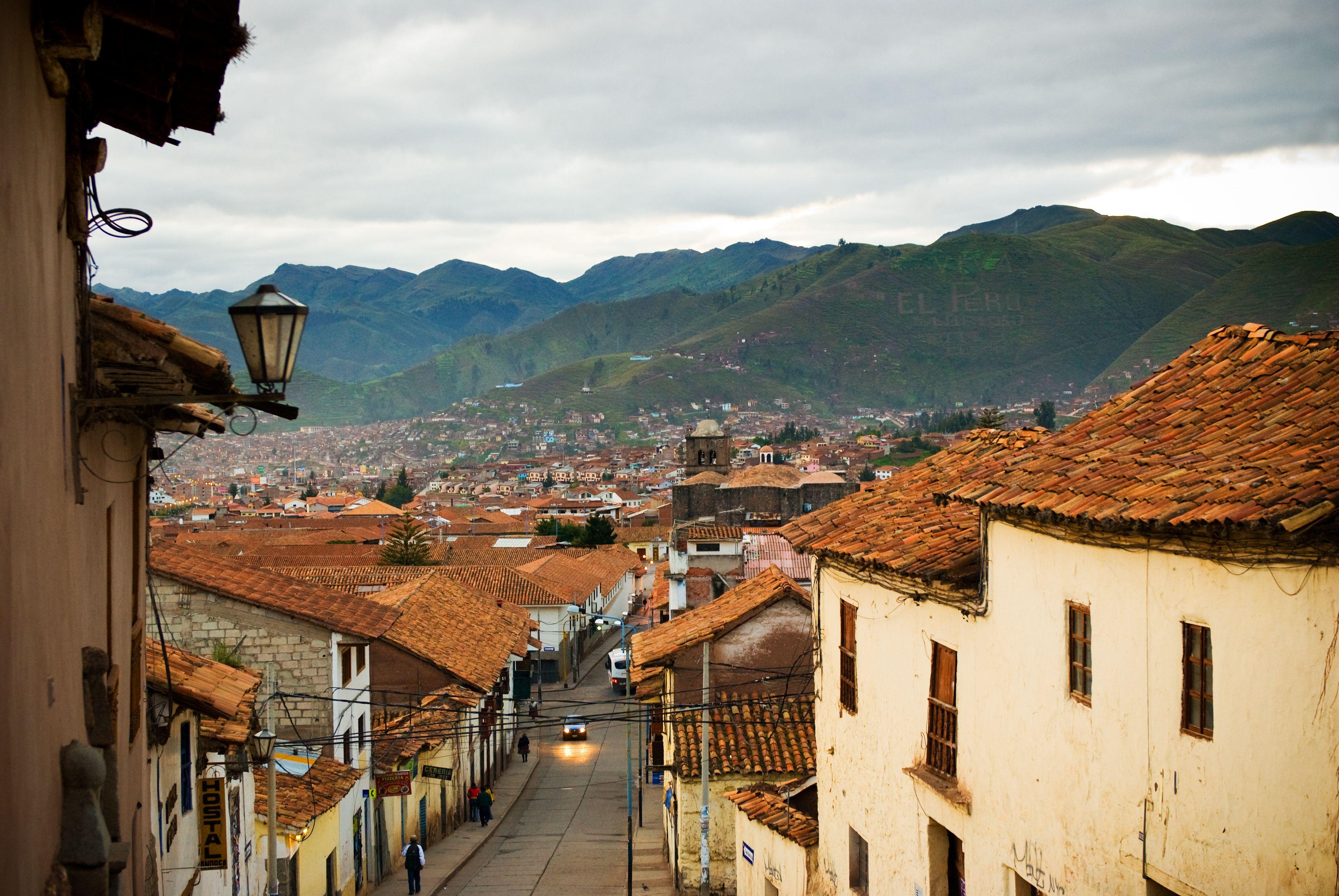 The cityscape of Cusco in Peru