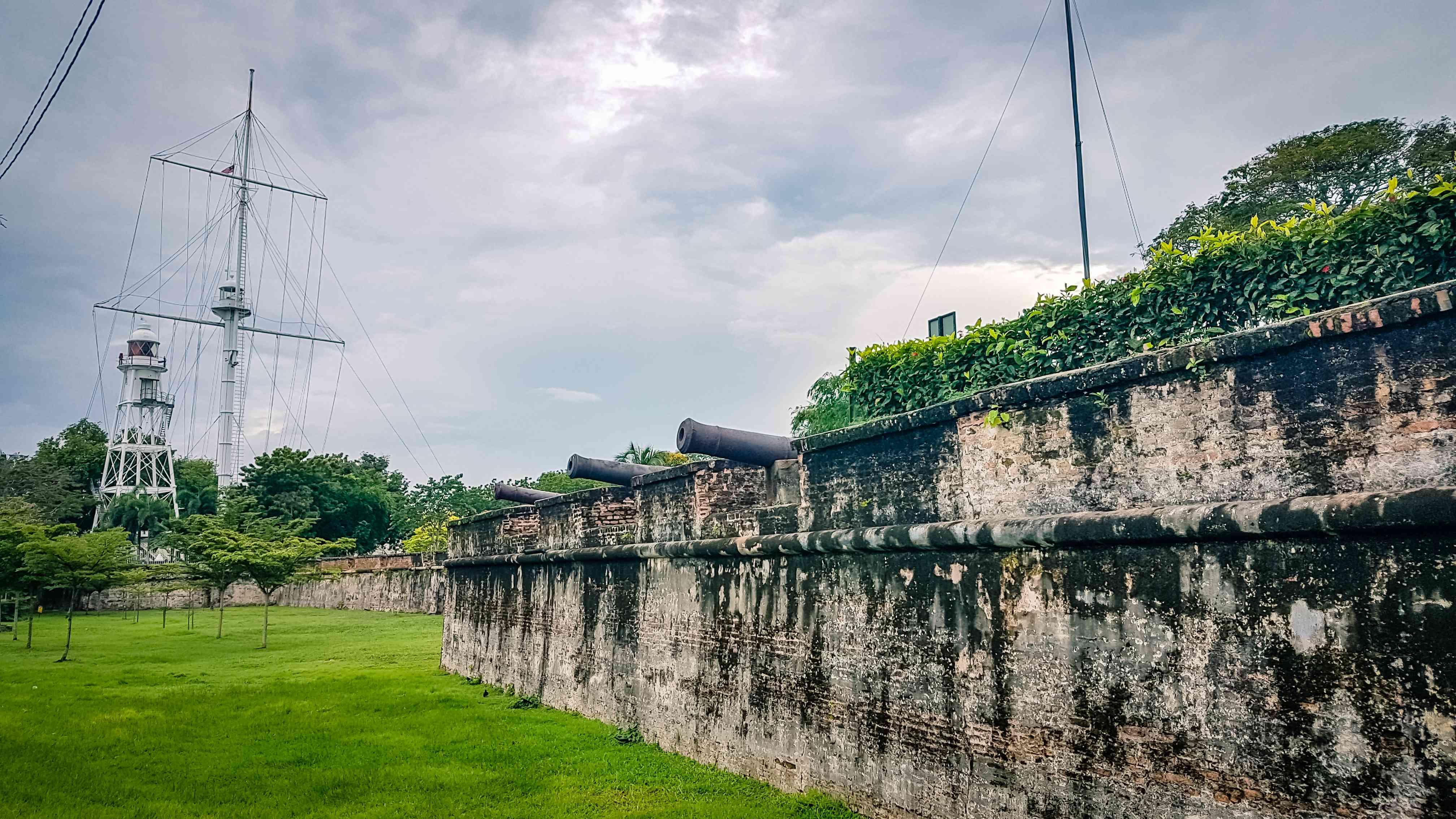 Fort Cornwallis at Penang, Malaysia