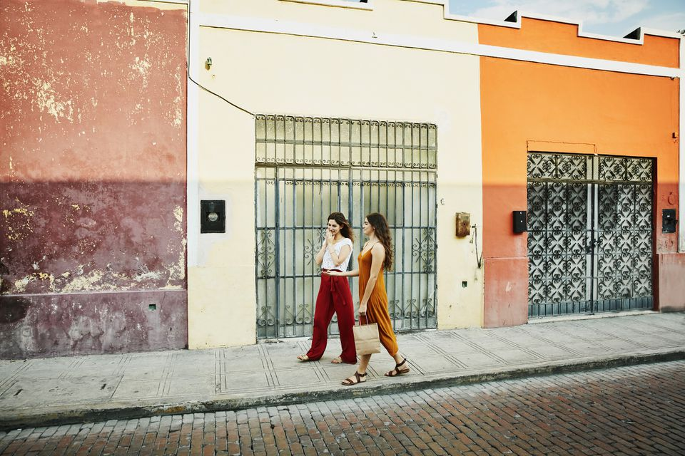 Women walking in Yucatan Mexico
