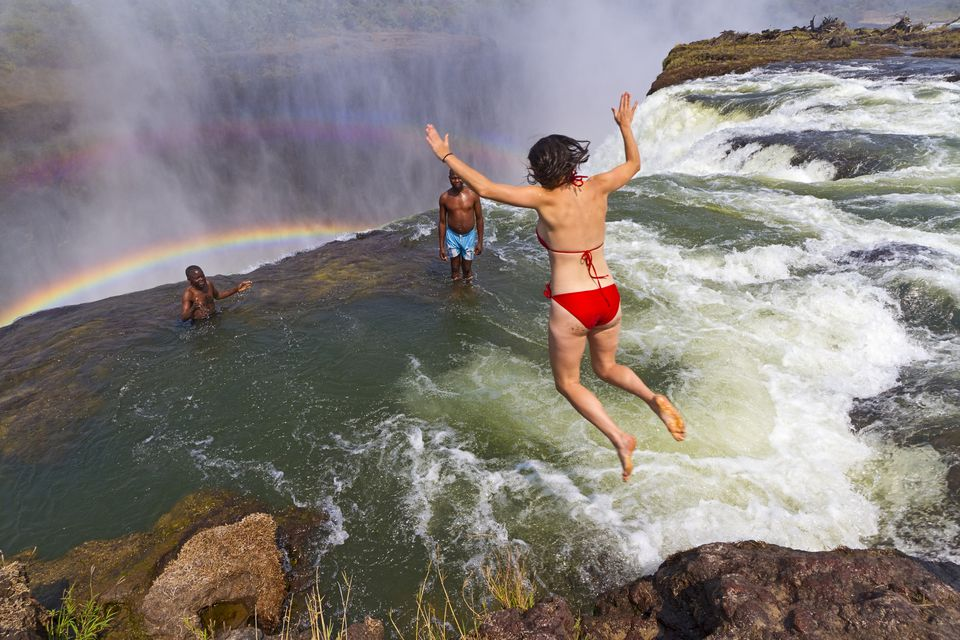 Life on the Edge Devil's Pool Victoria Falls Zambia