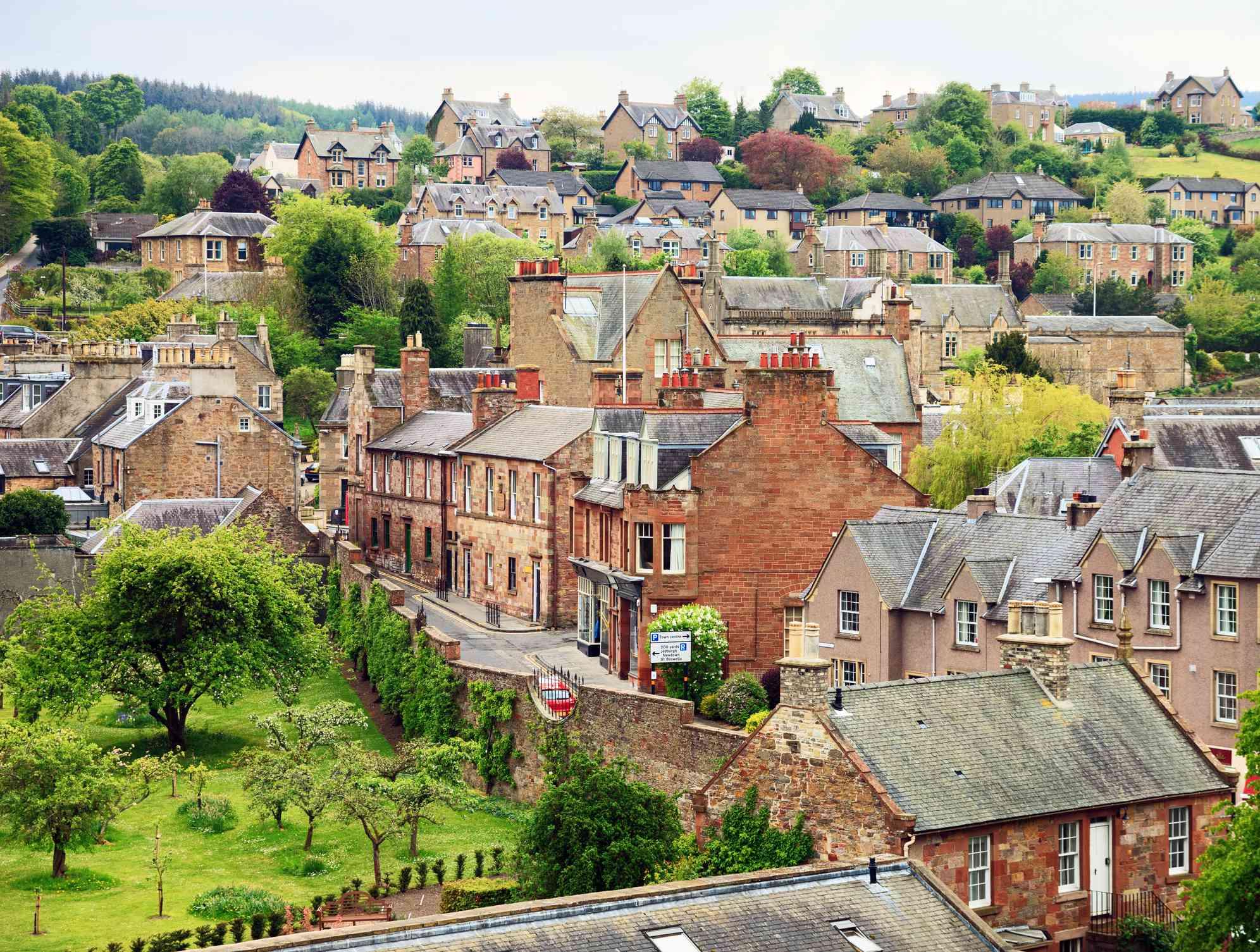 small town in the Scottish Borders, Scotland, United Kingdom