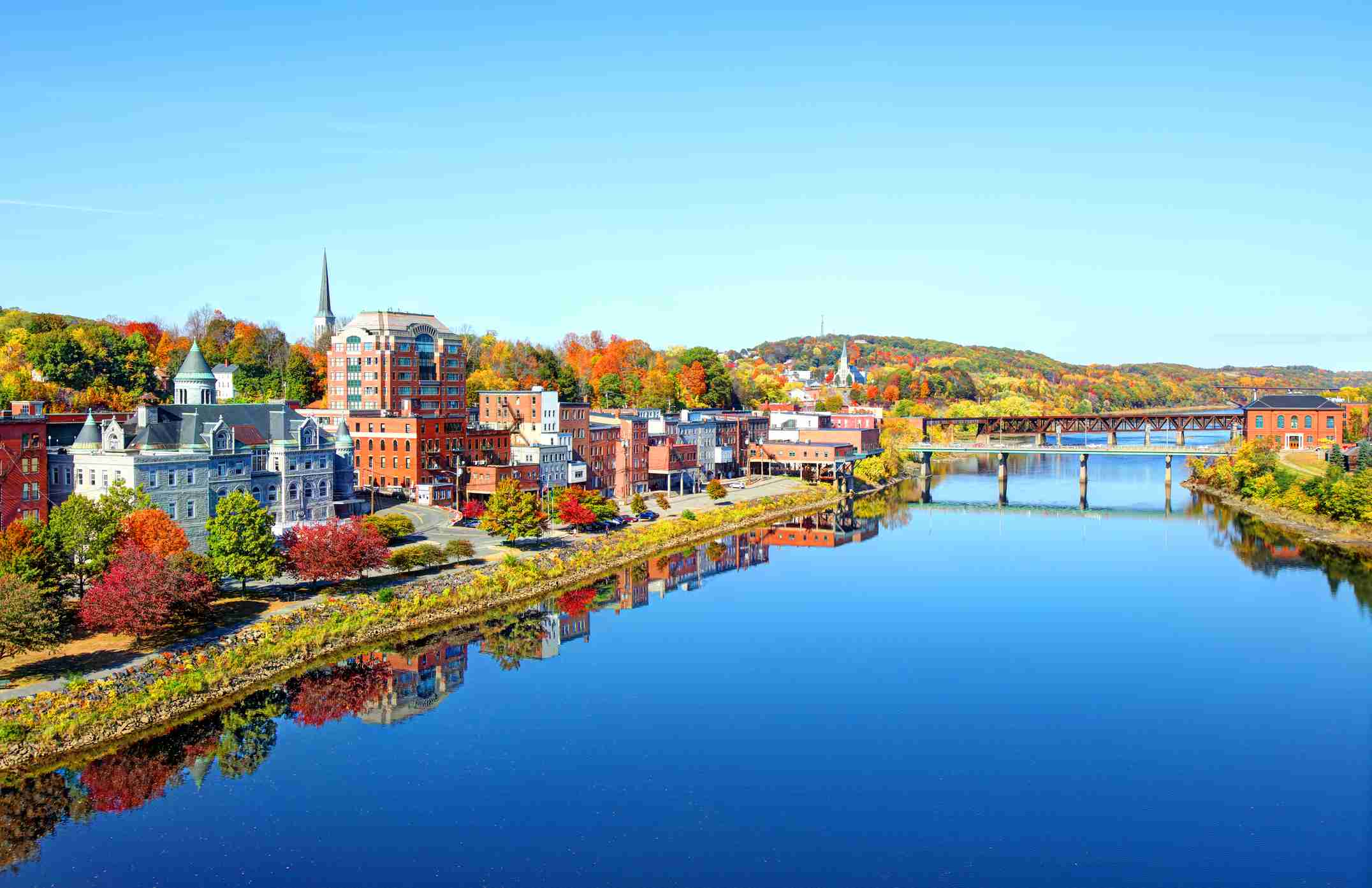 Augusta, Maine alongside the Kennebec River