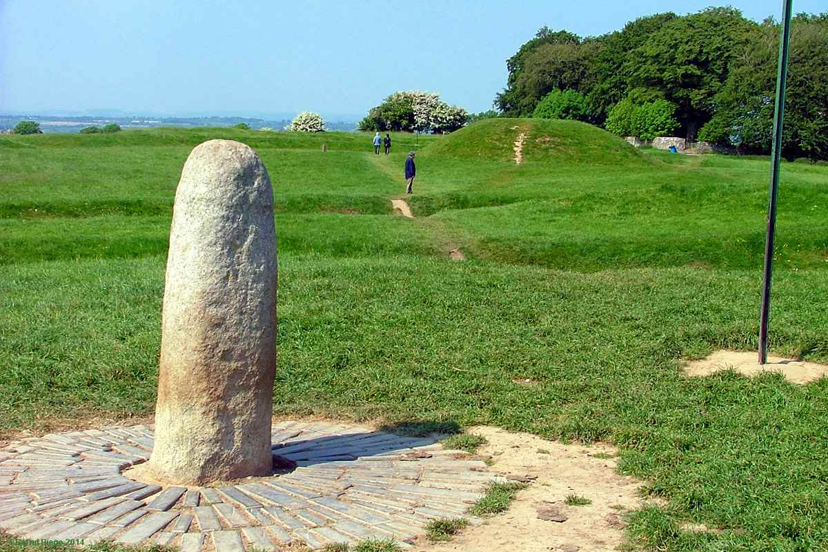 The Lia Fail on the Hill of Tara