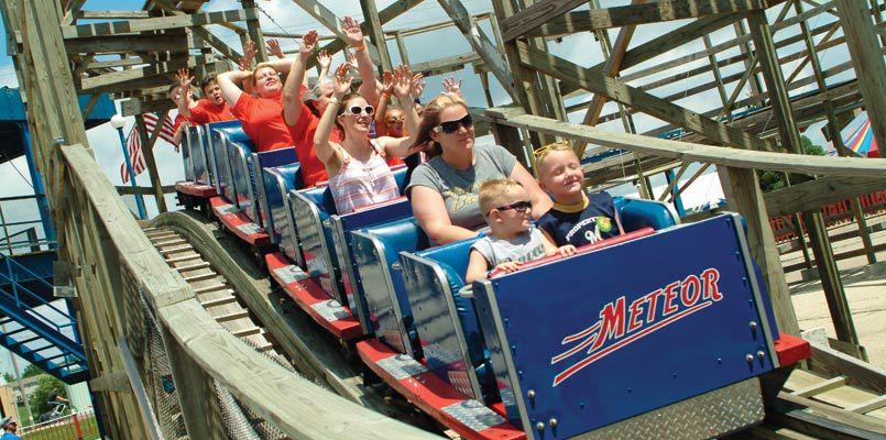 Meteor coaster at Little Amerricka