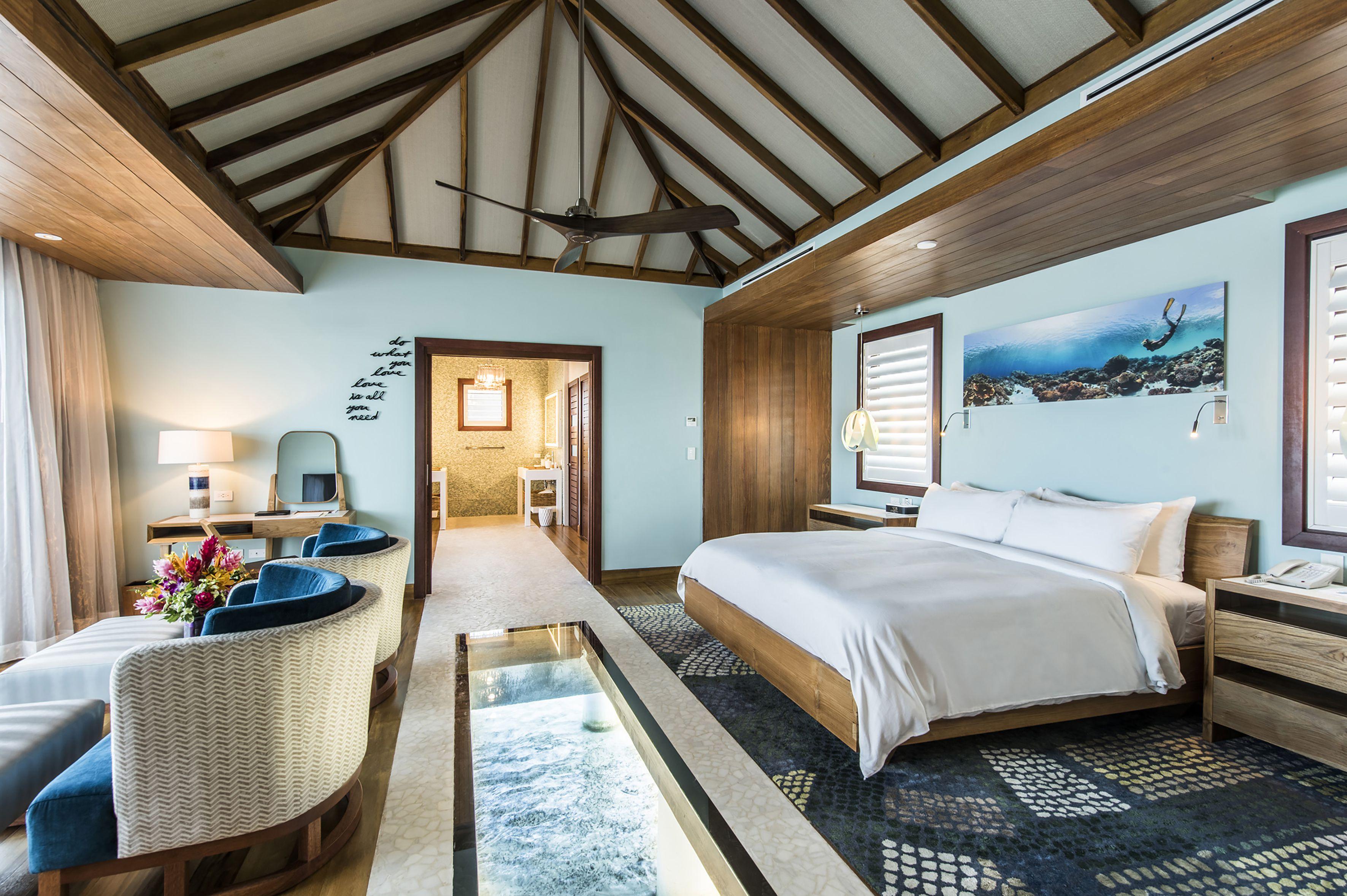 Interior of Sandals Overwater Villa