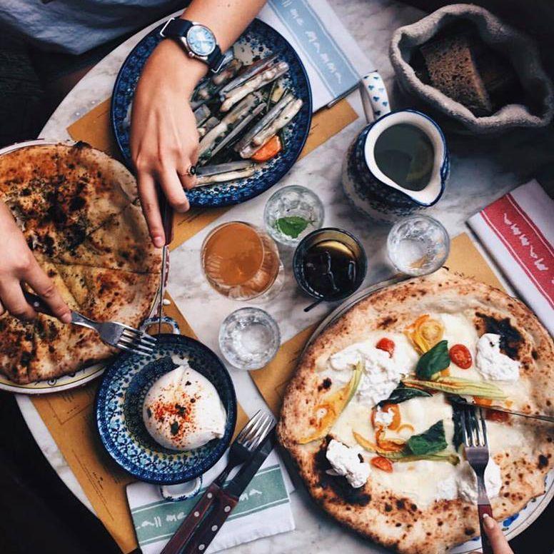 Neapolitan-Style pizzas at East Mamma in Paris