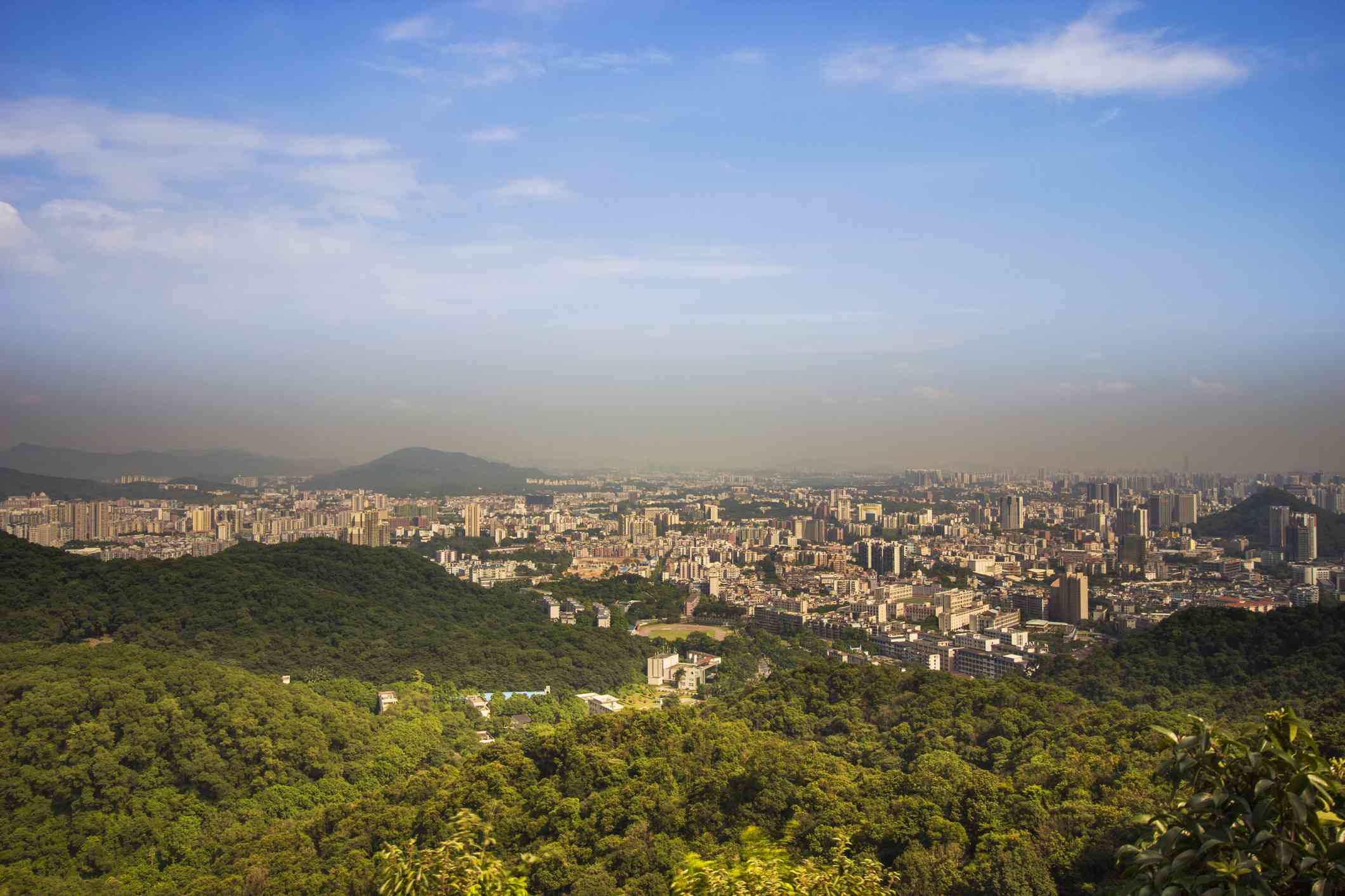 Baiyun Mountain overlooking Guangzhou