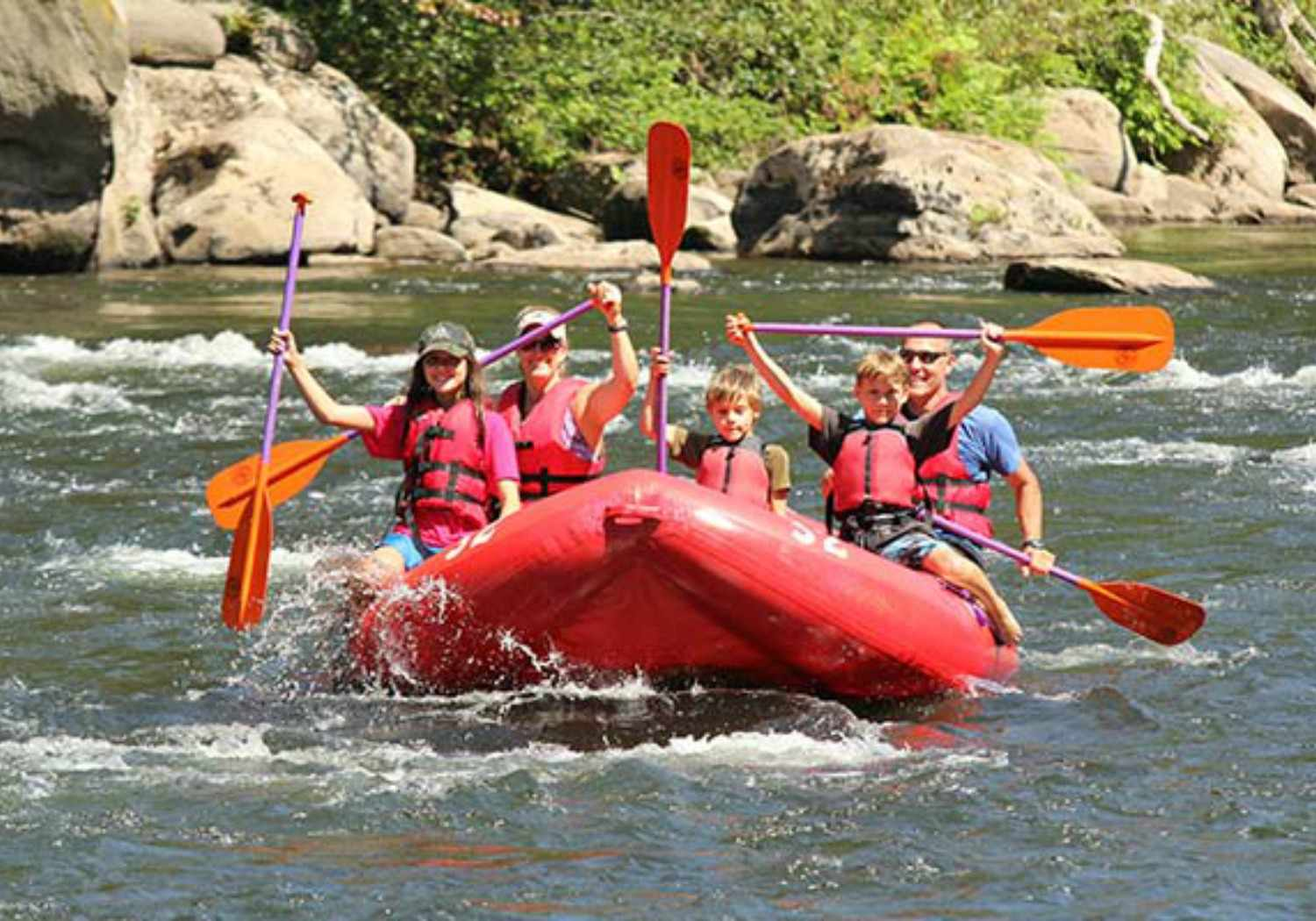 Family Rafting on Pennsylvania's Youghiogheny River