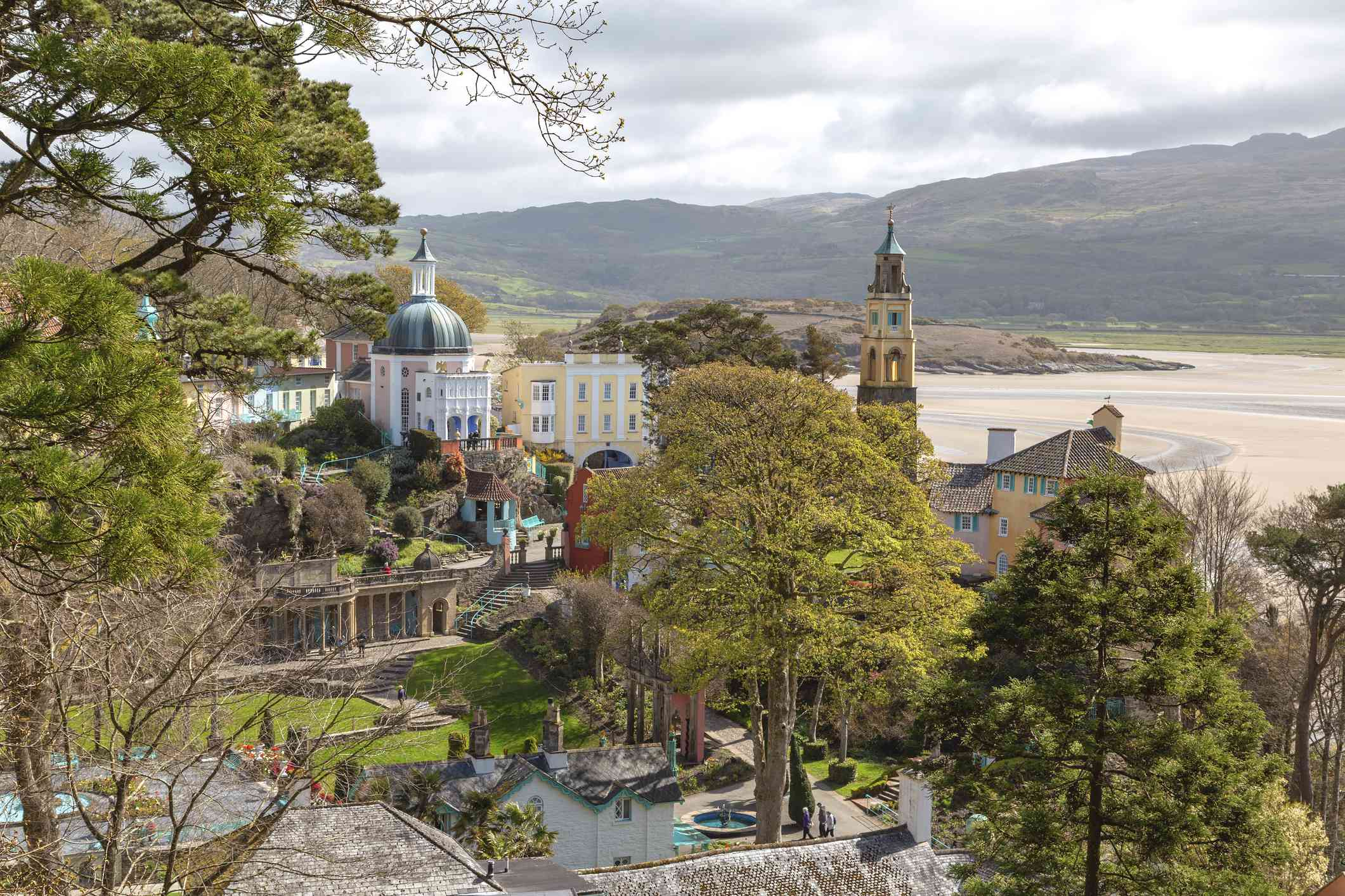 The village of Portmeirion in Wales