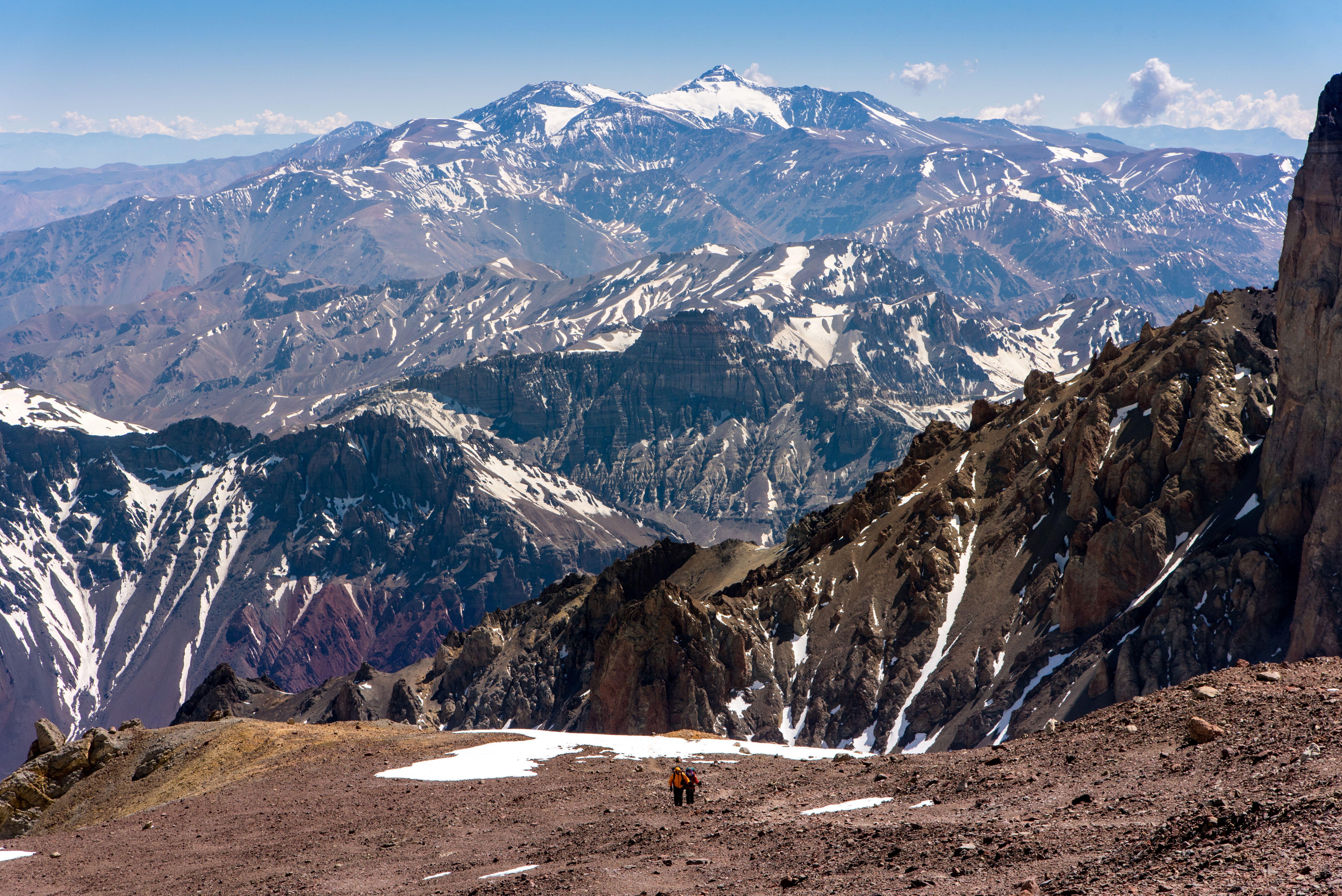 Hikers in Aconcagua
