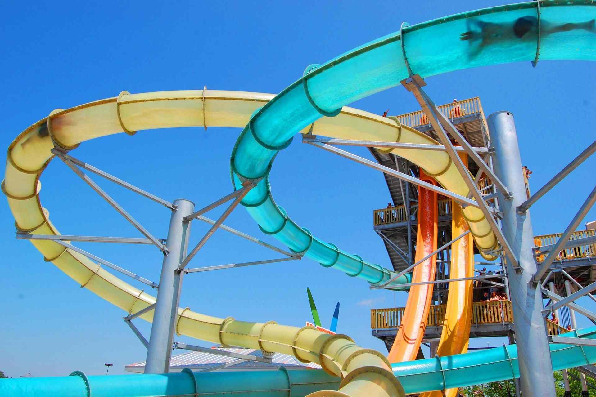 Dive Bomber slide at Six Flags Hurricane Harbor Chicago in Gurnee