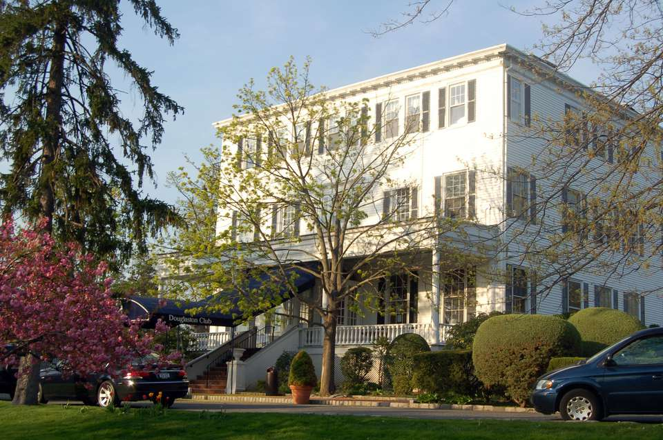 The private Douglaston Club was once a 19th-century mansion