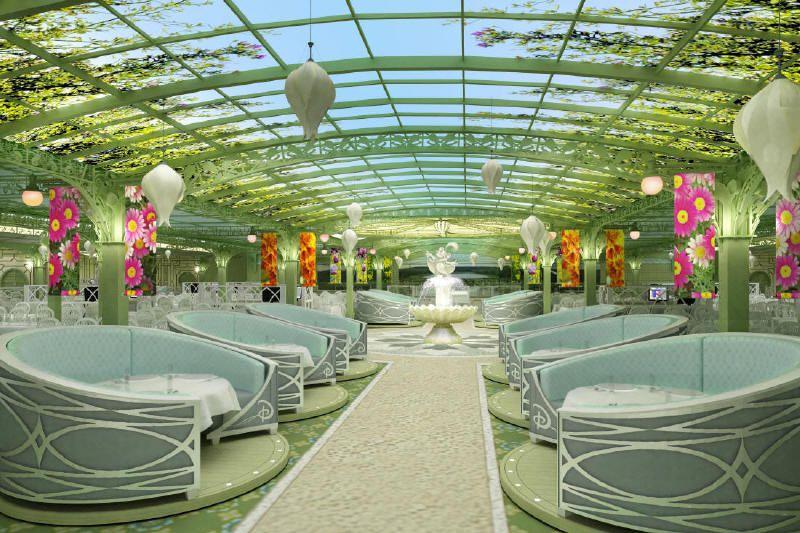 Enchanted Garden restaurant - Disney Dream - Photo courtesy of Disney Cruise Line.