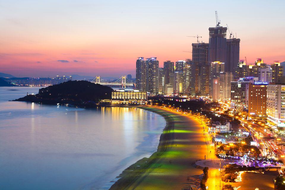 Haeundae beach, Busan