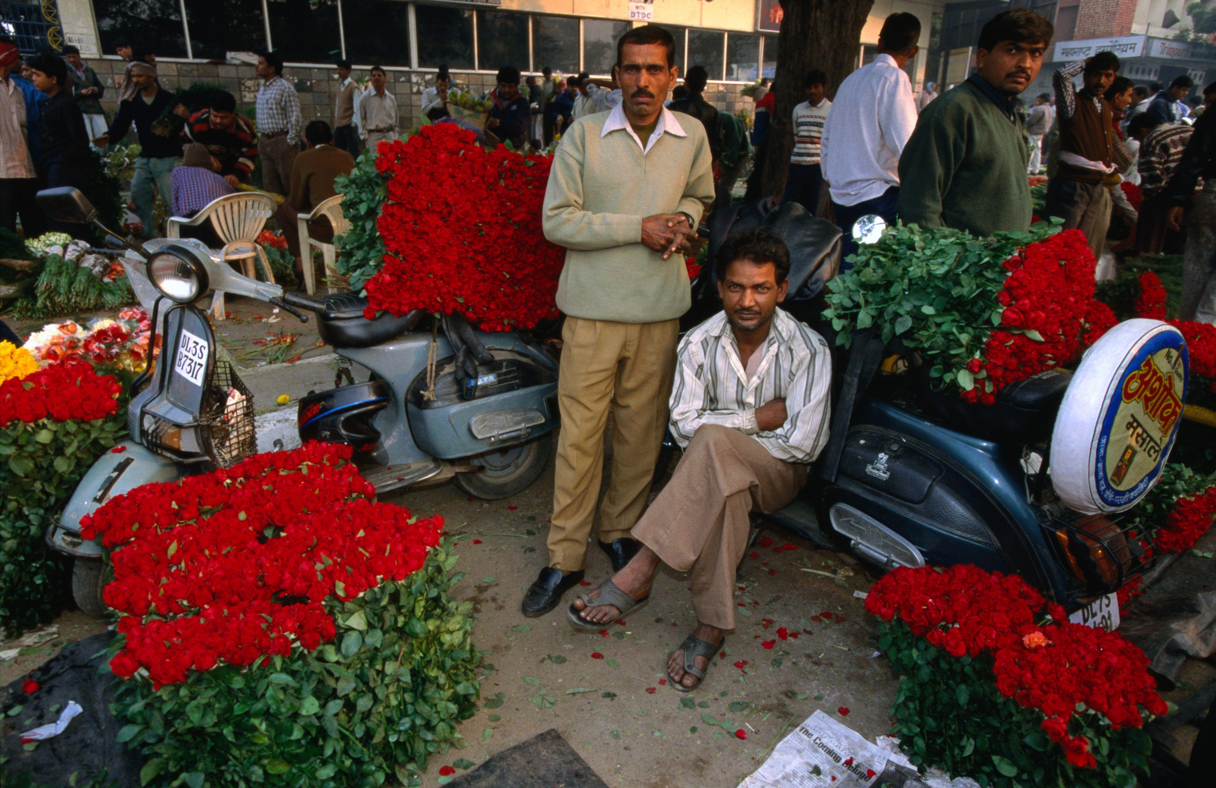 Mercado de flores de Connaught Place