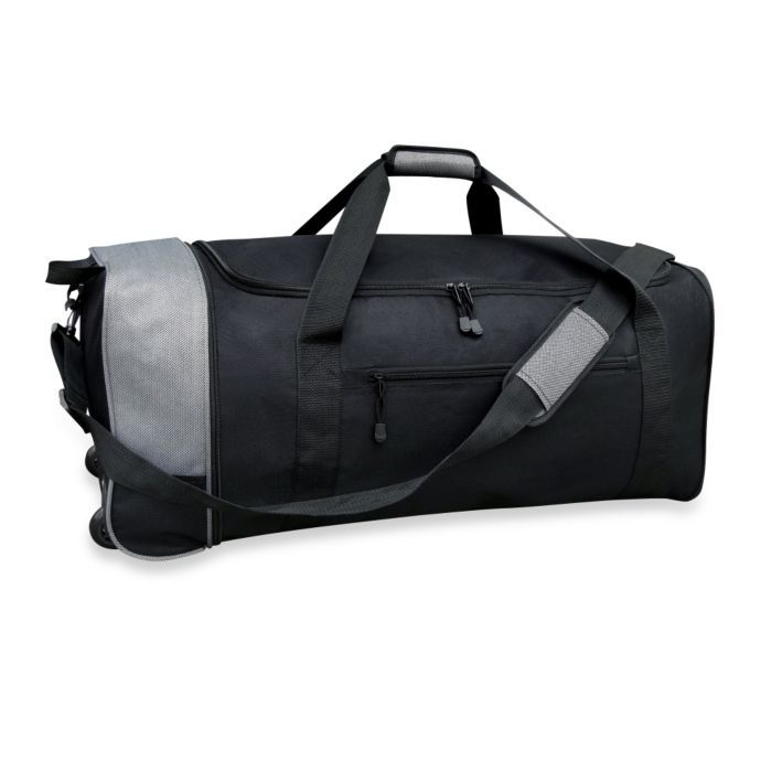 Travelers Club 32-Inch Compactable Rolling Duffel
