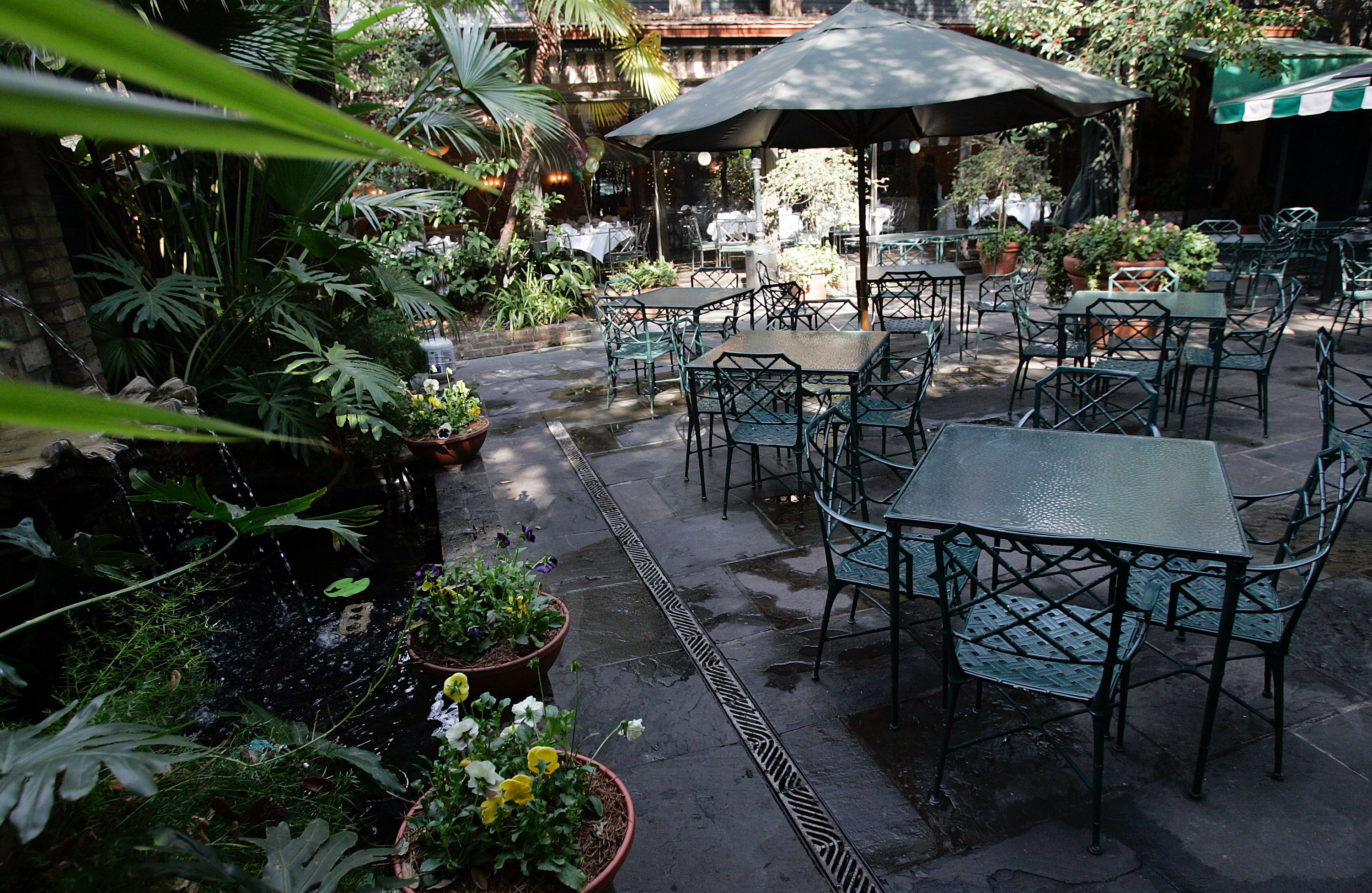 Outdoor Courtyard at Commander's Palace restaurant