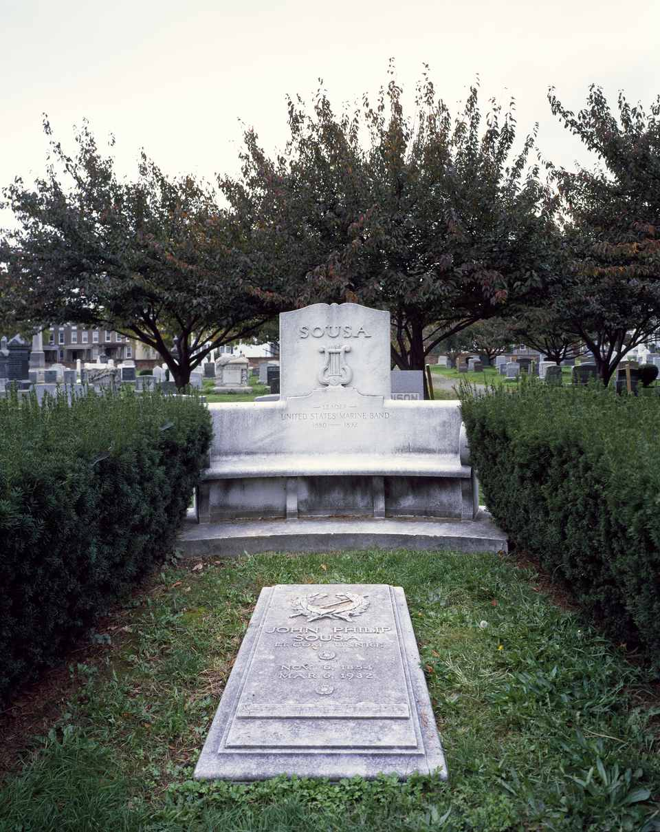 John Philip Sousa gravesite at Congressional Cemetery, Washington, D.C.