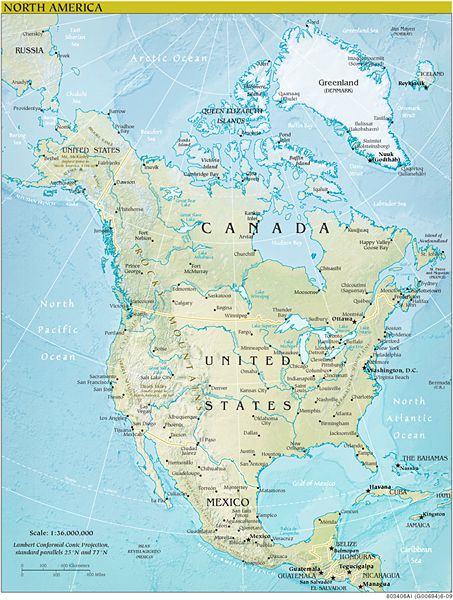 Map Of Canada And Surrounding Countries.Maps Of Countries With Cruise Ports Of Call