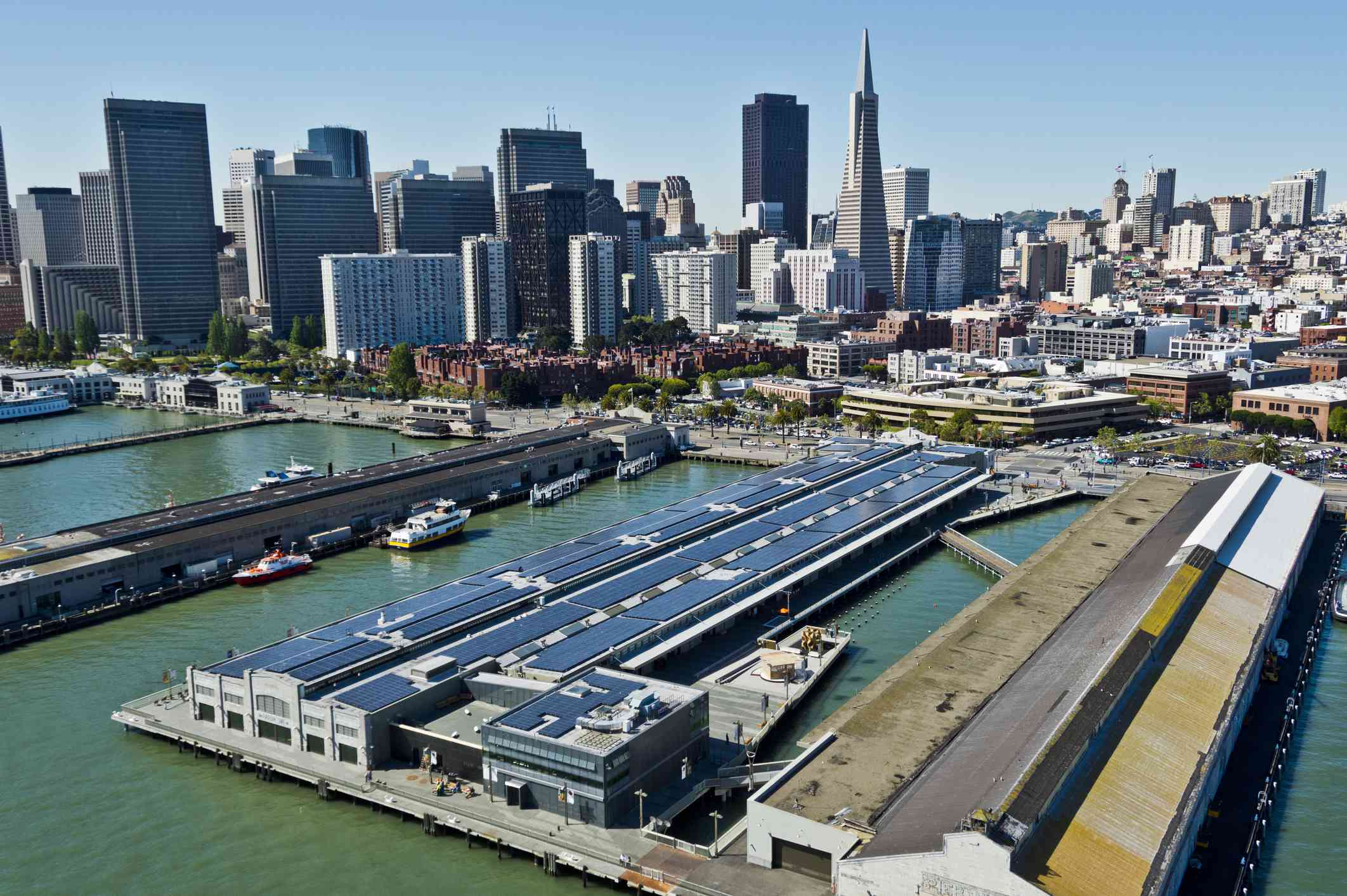 The new Exploratorium museum on the San Francisco waterfront
