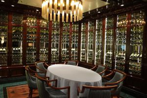 Wine Maker's dinner setting on the Regal Princess