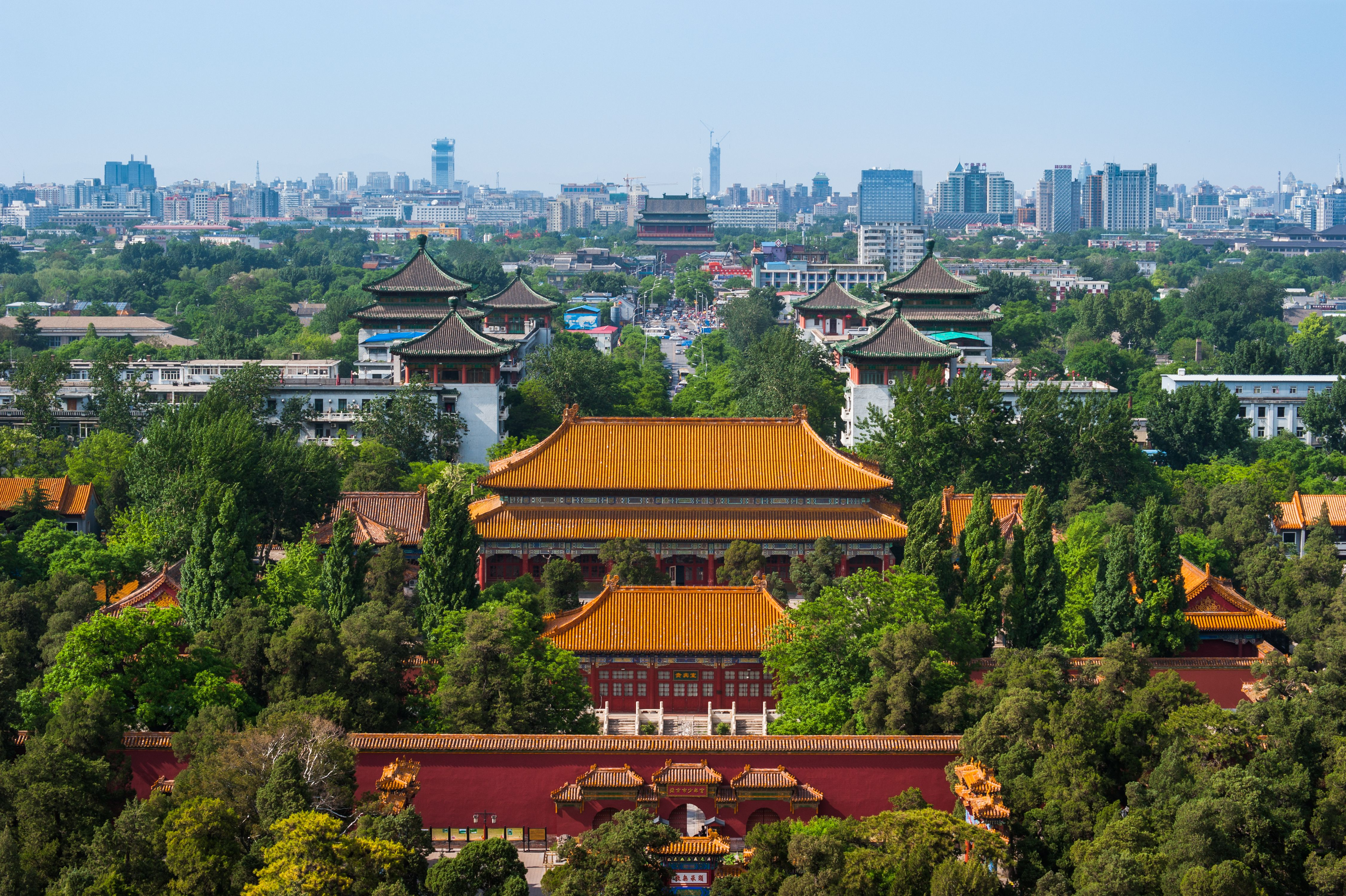 View of Beijing from hill in Jingshan Park