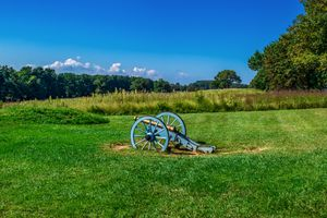Valley Forge National Historical Park with a cannon in a field