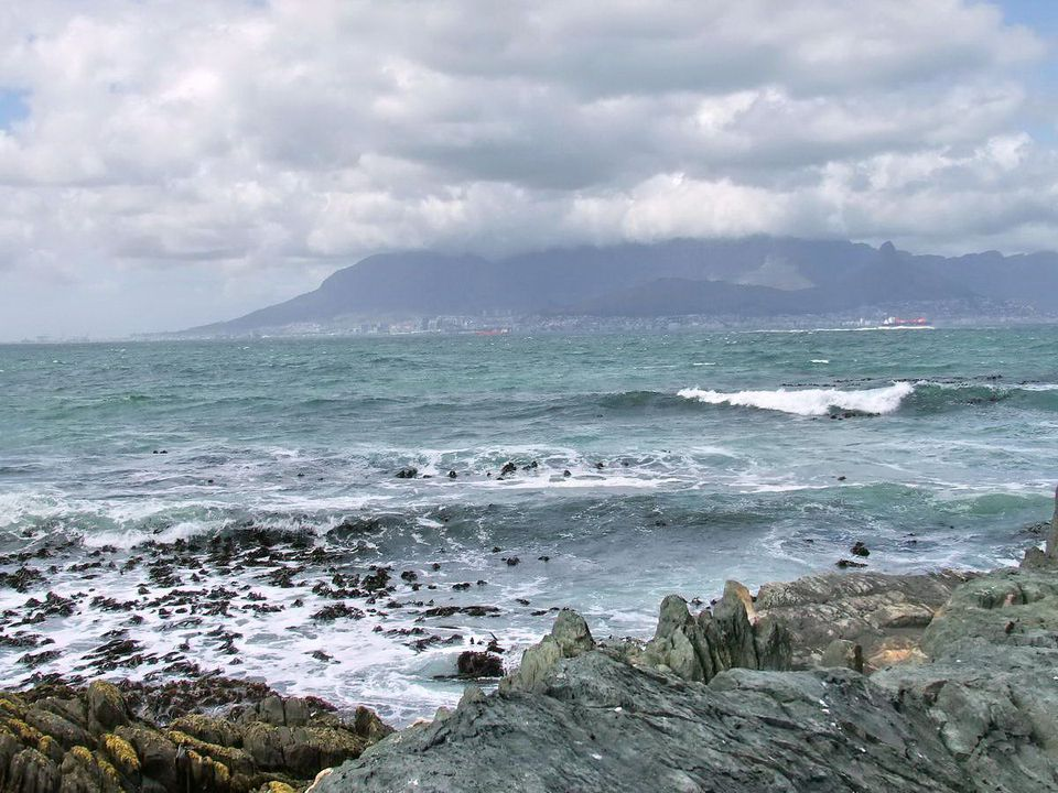 Tour of Robben Island - Former Political Prison of South Africa View of Cape Town and Table Mountain from Robben Island