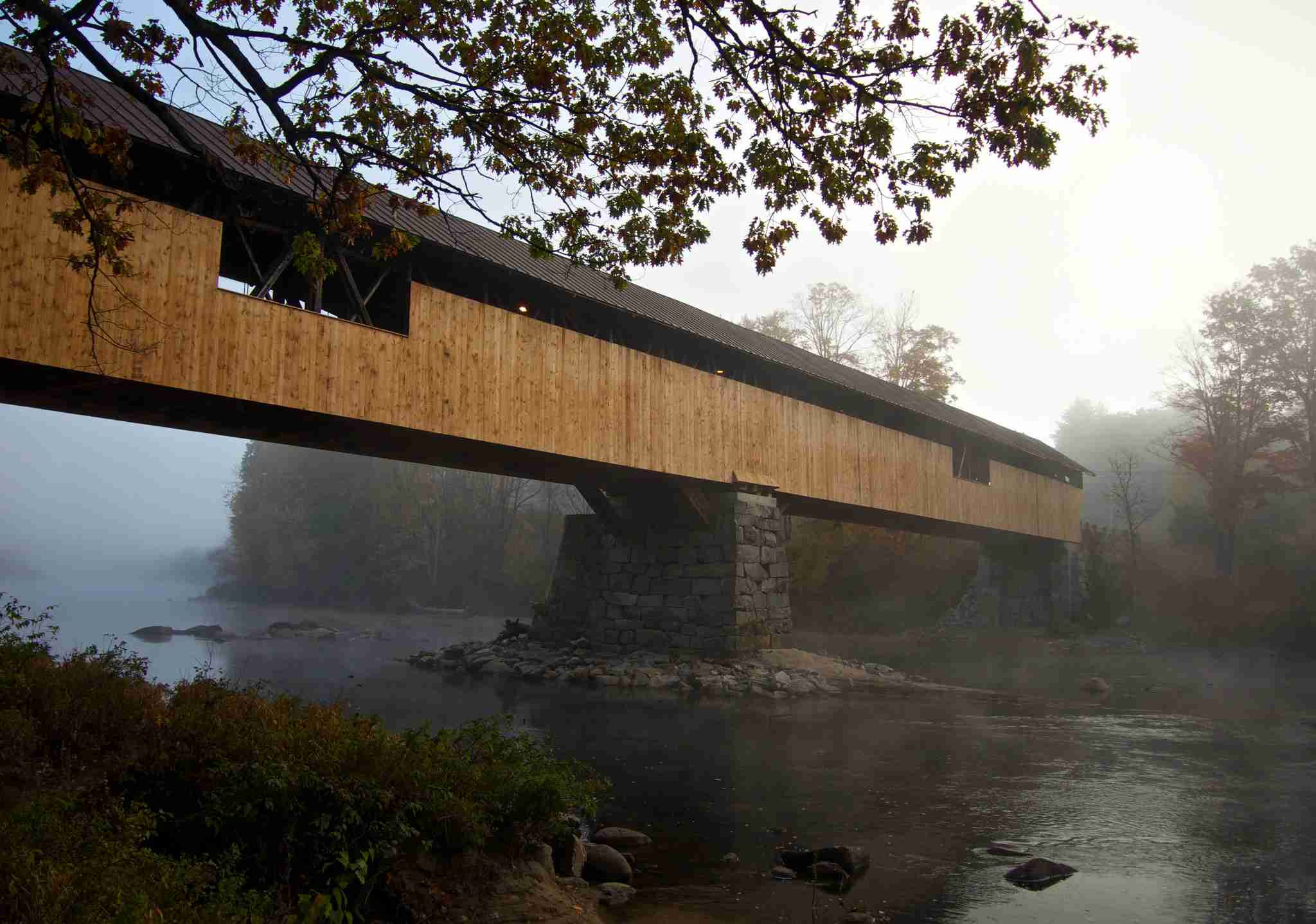 Blair Covered Bridge in New Hampshire