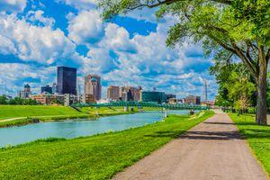 Downtown Dayton, Ohio and the Great Miami River