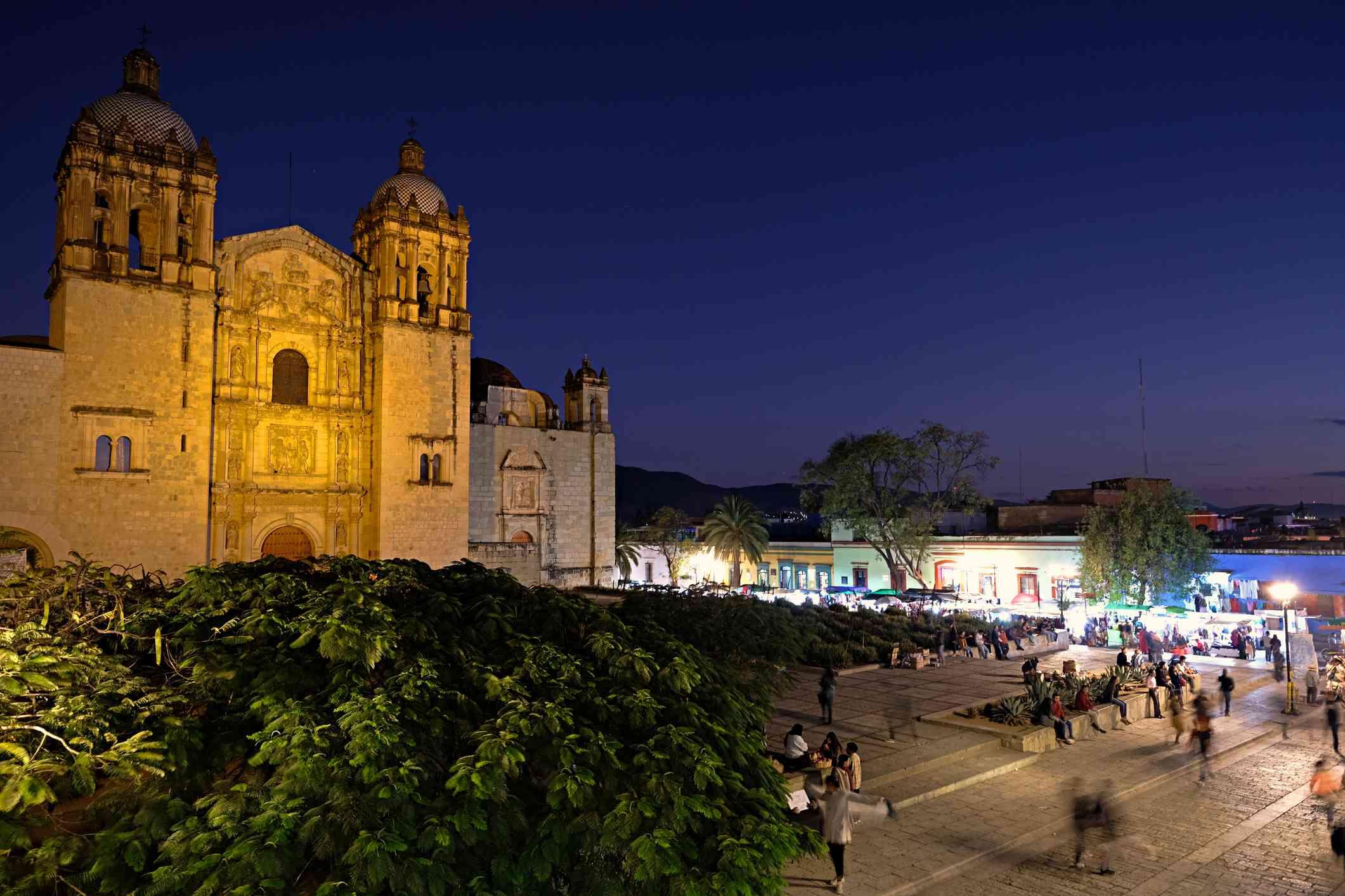 Church of Santo Domingo de Guzman, Oaxaca at Night