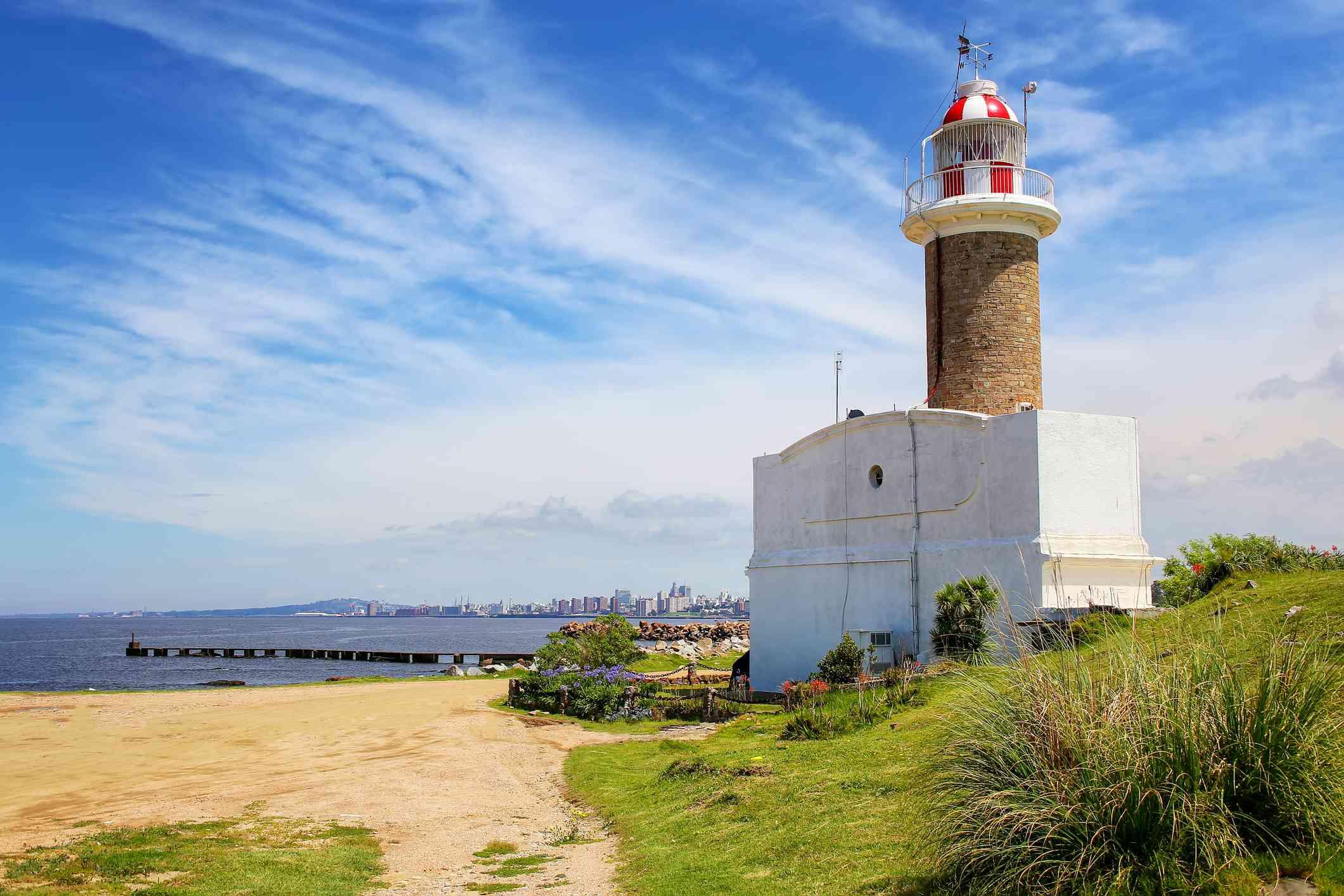 Punta Brava lighthouse in Punta Carretas, Montevideo, Uruguay