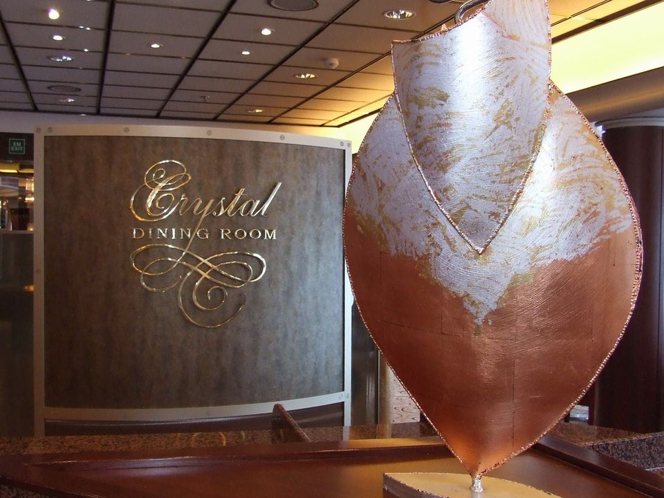 Crystal Symphony - Crystal Dining Room - Crystal Cruises' Crystal Symphony