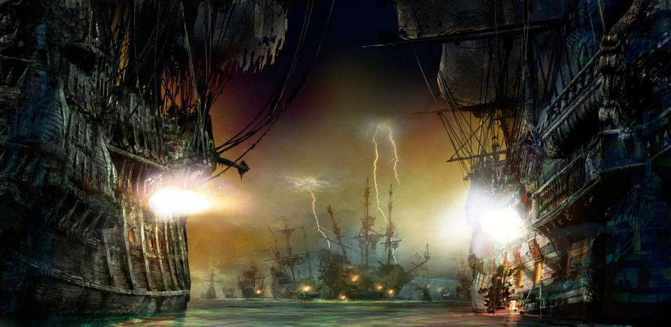 Shanghai Disneyland Pirates ride battle