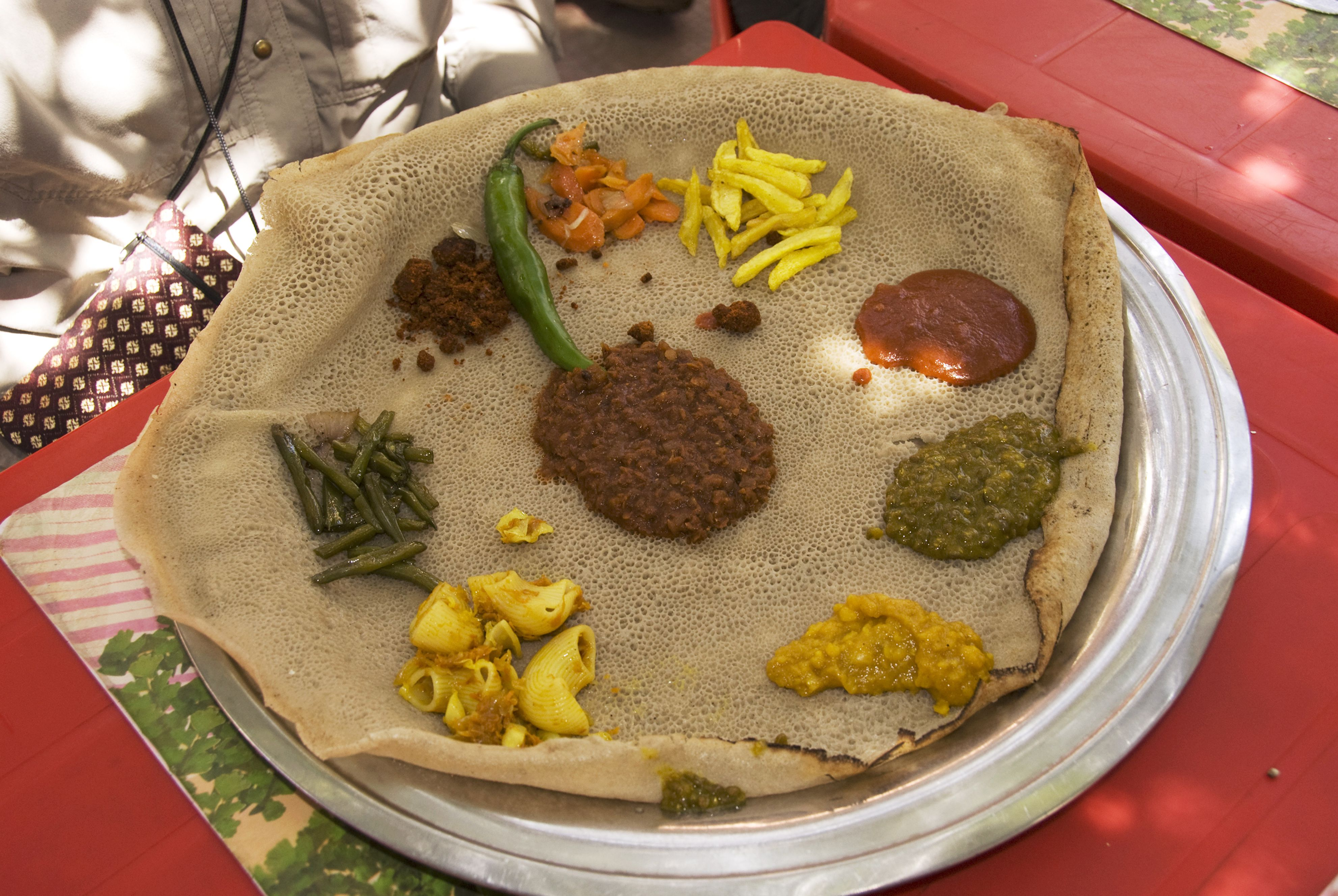 Comida etíope en el Café Ibex