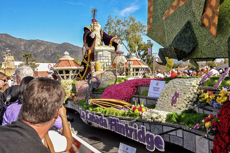 Post Parade Float Viewing in Pasadena
