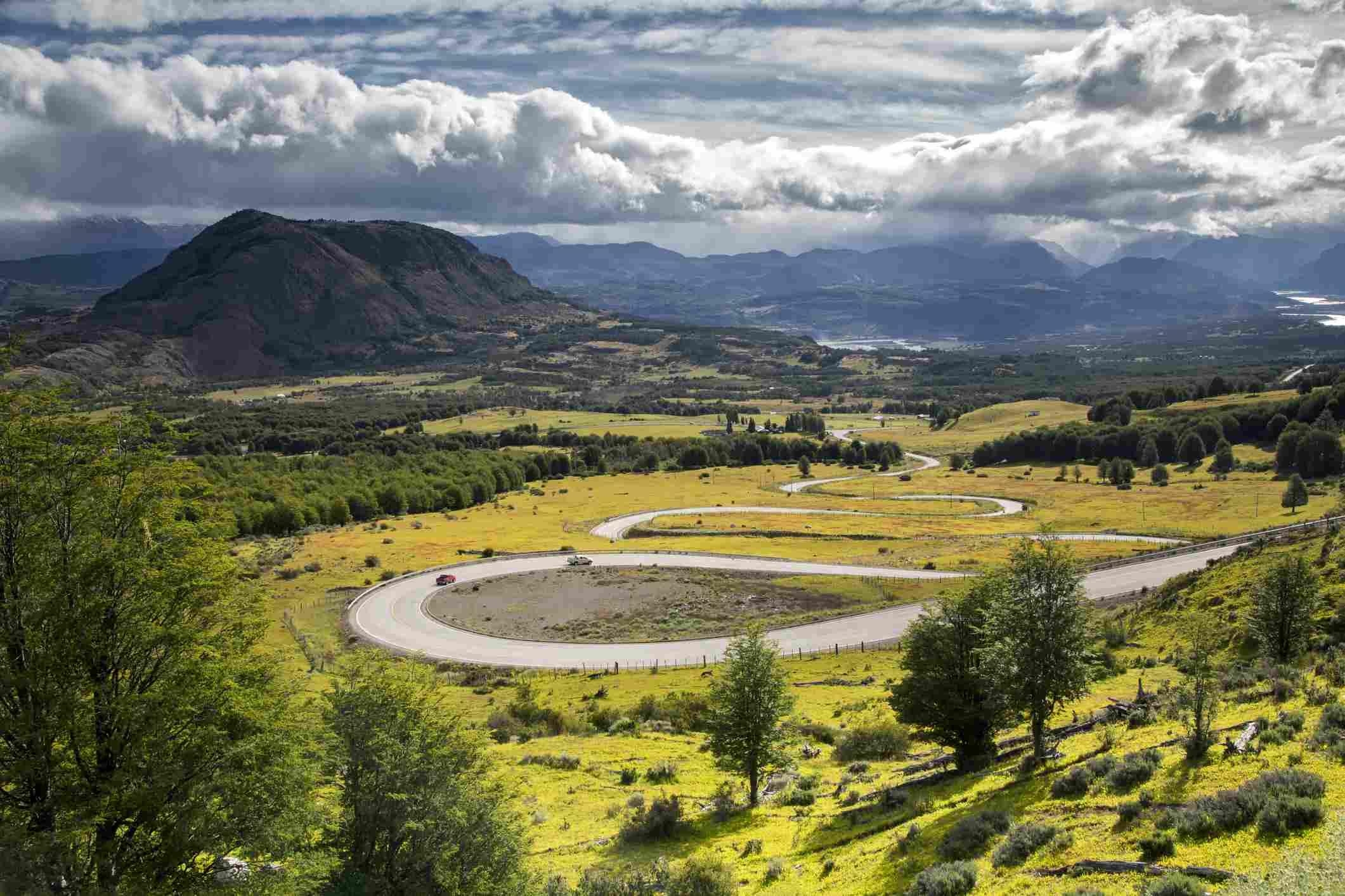 Carretera Austral Road en Chile