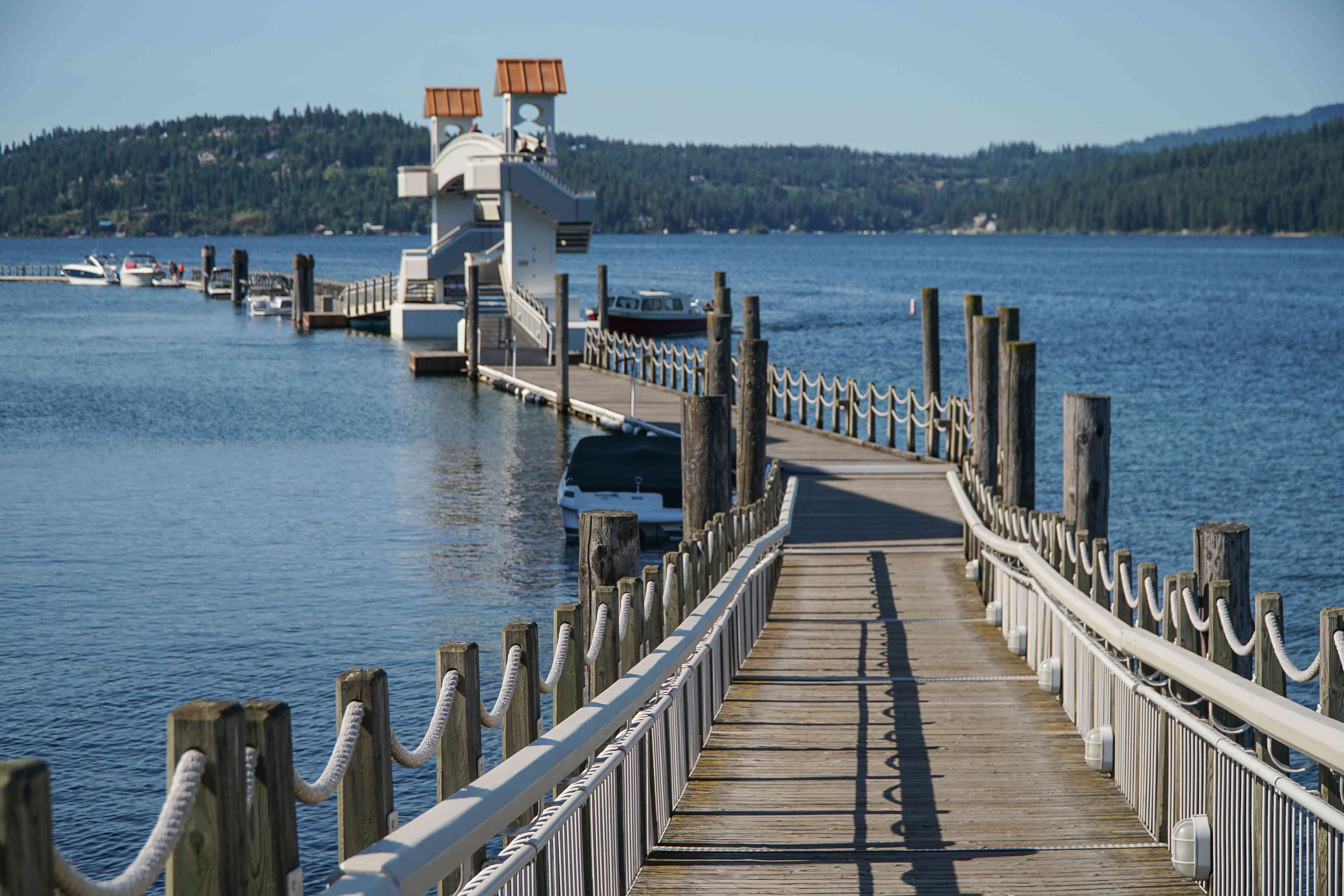 A pier out on to the lake in Coer d'Alene